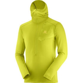 Salomon Grid HZ midlayer con cappuccio Uomo, citronell